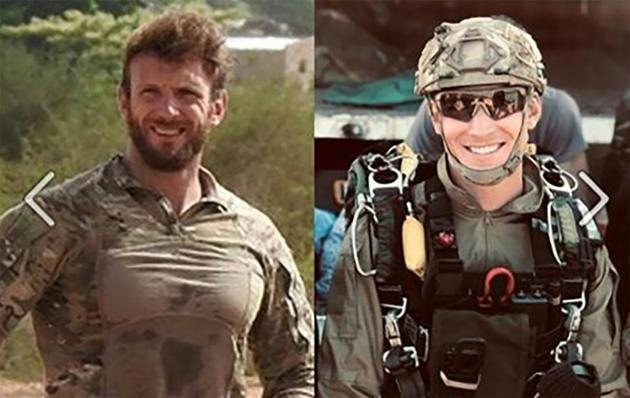 Les militaires français Cédric de Pierrepont et Alain Bertoncello tués lors de l'opération de libération des otages au Burkina Faso [HO / MARINE NATIONALE/AFP]