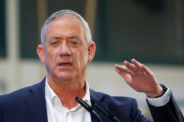 Benny Gantz, principal concurrent de Benjamin Netanyahu aux élections législatives israéliennes, le 6 avril 2019 à Rosh Haayin (Israël) [JACK GUEZ / AFP]