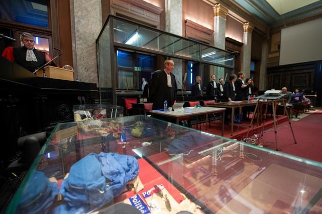 Le procureur Bernard Michel à l'ouverture de la session du procès de Mehdi Nemmouche. Le 25 février 2019 à Bruxelles. [Christophe LICOPPE / BELGA/AFP]
