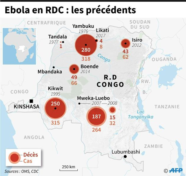 Ebola en RDC : les précédents [Sophie RAMIS / AFP]