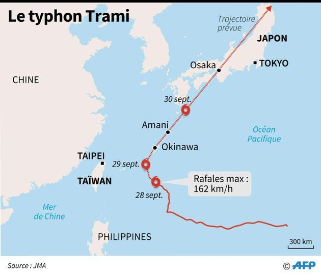 Typhon Trami [Laurence CHU / AFP]