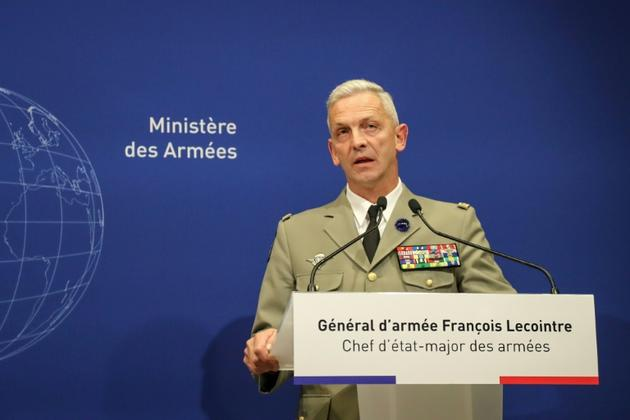 Le général François Lecointre, chef d'état-major de l'armée française, lors d'une conférence de presse à Paris le 10 mai 2019 [JACQUES DEMARTHON / AFP]