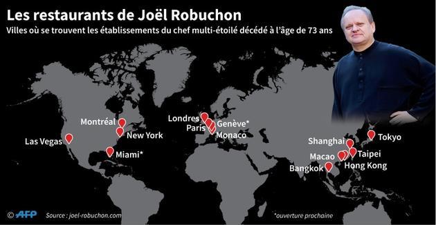 Les restaurants de Joël Robuchon [Maryam EL HAMOUCHI / AFP]