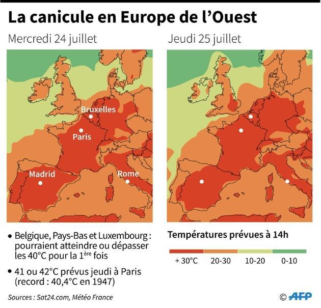 La canicule s'installe en France et en Europe de l'Ouest [ / AFP]