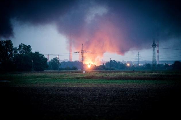 L'onde de choc a été ressentie sur plusieurs kilomètres. [Sebastian Pieknik / dpa/AFP]
