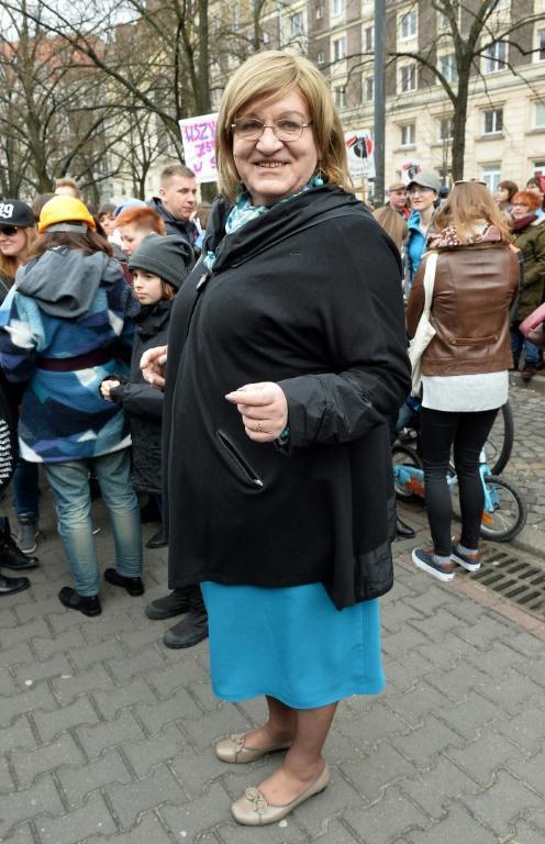 Anna Grodzka, députée transsexuelle polonaise et candidate au parlement européen, le 8 mars 2019 à Varsovie [Janek SKARZYNSKI / AFP/Archives]