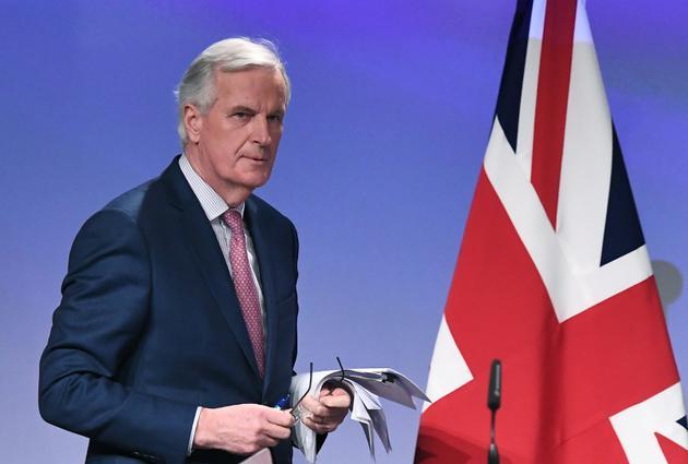 Le négociateur en chef de l'UE, Michel Barnier, le 19 mars 2018 à Bruxelles [EMMANUEL DUNAND / AFP/Archives]