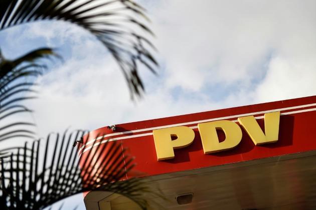Une station-essence de la compagnie vénézuélienne PDVSA à Caracas [LUIS ROBAYO / AFP/Archives]