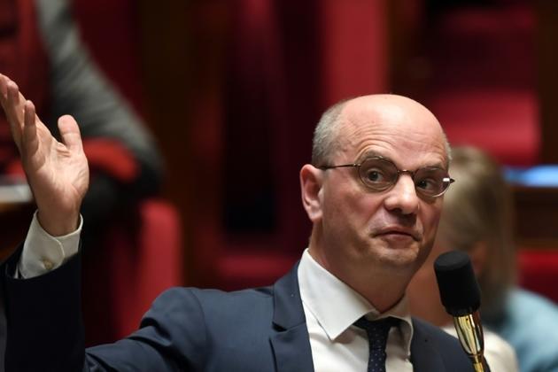 Le ministre de l'Education nationale Jean-Michel Blanquer s'exprime le 26 mars 2019 à l'Assemblée nationale à Paris [ERIC FEFERBERG / AFP/Archives]