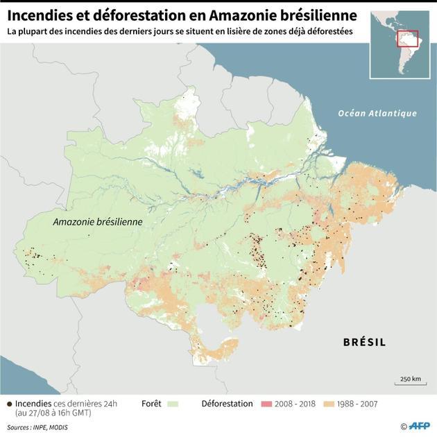 Incendies et déforestation en Amazonie brésilienne [Sabrina BLANCHARD / AFP]