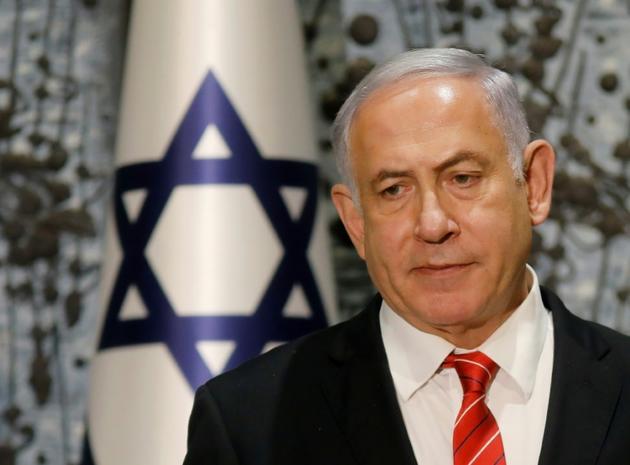 Le Premier ministre israélien Benjamin Netanyahu, lors d'une conférence de presse à Jérusalem le 25 septembre  2019 [Menahem KAHANA / AFP]
