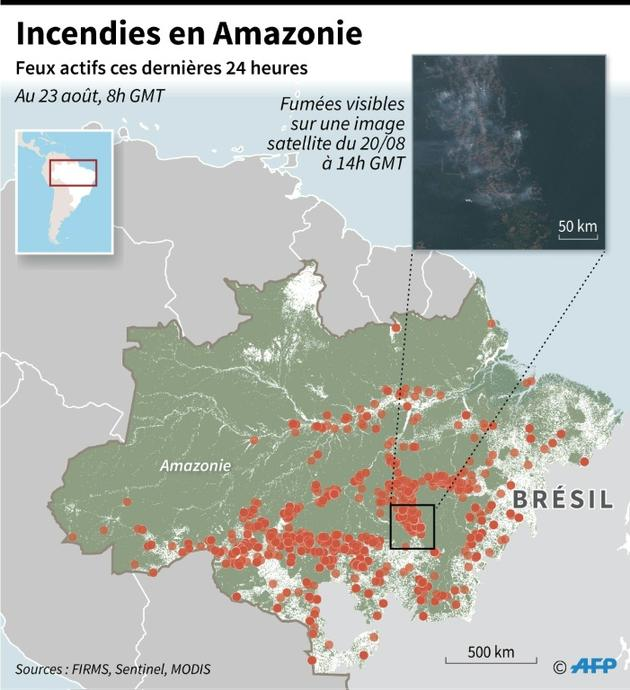 Incendies en Amazonie [Simon MALFATTO / AFP]