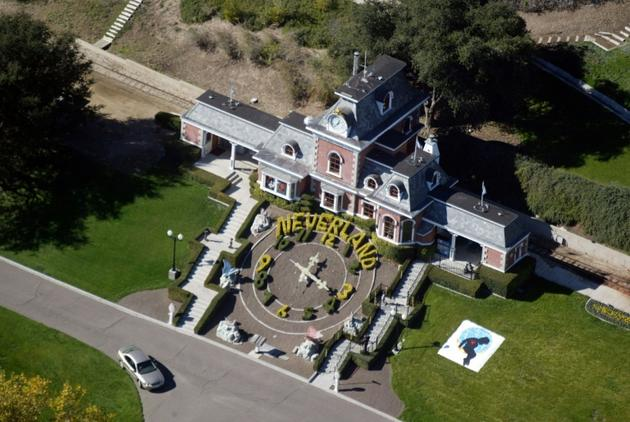 Vue aérienne du ranch Neverland de Michael Jackson, prise le 18 novembre 2003, à Santa Ynez (Californie) [FRAZER HARRISON / GETTY IMAGES NORTH AMERICA/AFP/Archives]