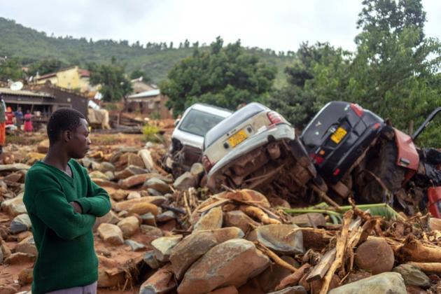 Les dégâts provoqués par la cyclone Idai à Chimanimani, dans l'est du Zimbabwe, le 18 mars 2019 [Zinyange AUNTONY / AFP]