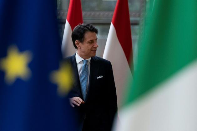 Le Premier ministre italien Giuseppe Conte le 11 septembre 2019 à Bruxelles [Kenzo TRIBOUILLARD / AFP]