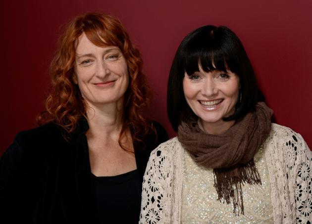 La réalisatrice australienne Jennifer Kent (g) et l'actrice Essie Davis (d) au Sundance Film Festival à Park City dans l'Utah, le 17 janvier 2014 [Larry Busacca / GETTY IMAGES NORTH AMERICA/AFP/Archives]