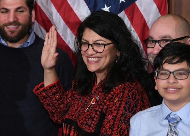L'élue démocrate Rashida Tlaib, le 3 janvier 2019 à Washington [SAUL LOEB / AFP/Archives]