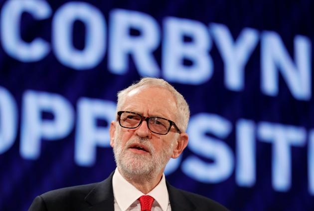 Jeremy Corbyn, leader du parti travailliste, le 19 novembre 2018 à Londres [Adrian DENNIS / AFP/Archives]
