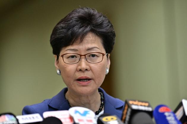 La chef de l'exécutif hongkongais Carrie Lam lors, le 10 juin 2019 à Hong Kong [Anthony WALLACE / AFP]