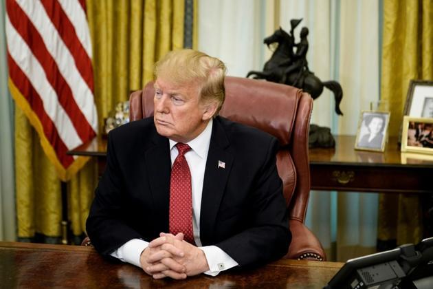 Donald Trump dans le Bureau ovale  [Brendan Smialowski / AFP/Archives]
