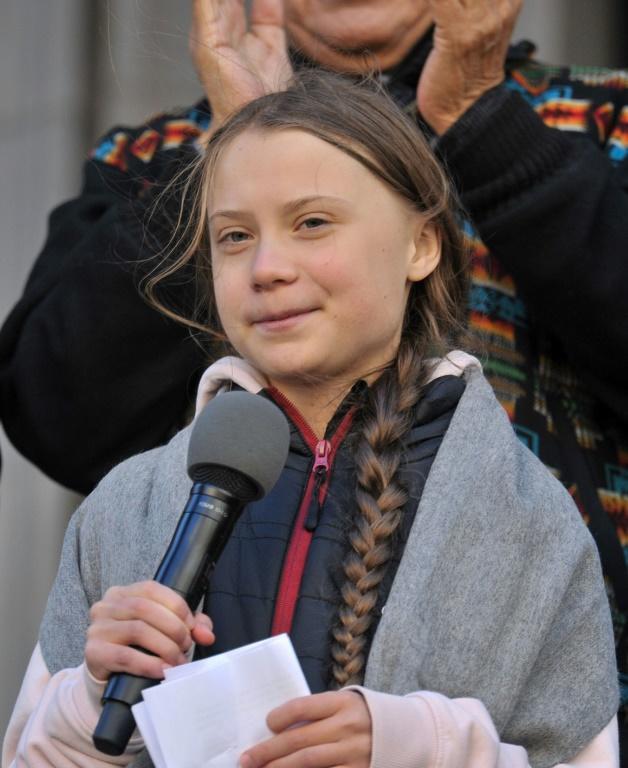 Greta Thunberg refuse de prendre l'avion, trop polluant, et avait traversé l'Atlantique en voilier pour participer début septembre à un sommet climat de l'ONU à New York avant de se rendre à Santiago pour la COP [Don MacKinnon / AFP/Archives]