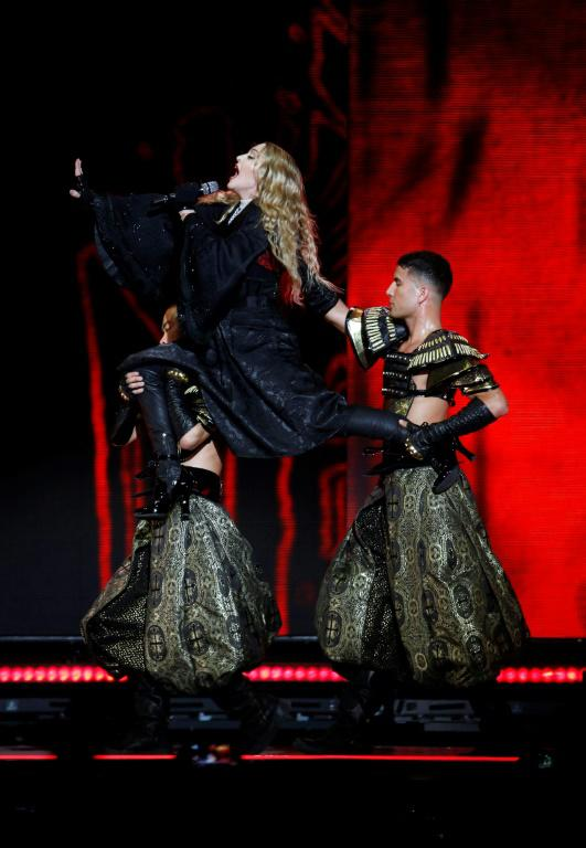 Madonna en concert à l'AccorHotels Arena, le 9 décembre 2015 à Paris [FRANCOIS GUILLOT / AFP/Archives]