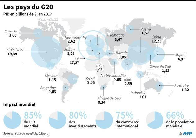 Les pays du G20 [Vincent LEFAI / AFP]