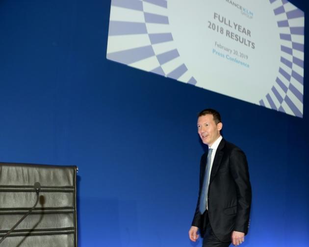 Le directeur général d'Air France-KLM Benjamin Smith le 20 février 2019 à Paris lors de la présentation des résultats du groupe  [ERIC PIERMONT / AFP/Archives]