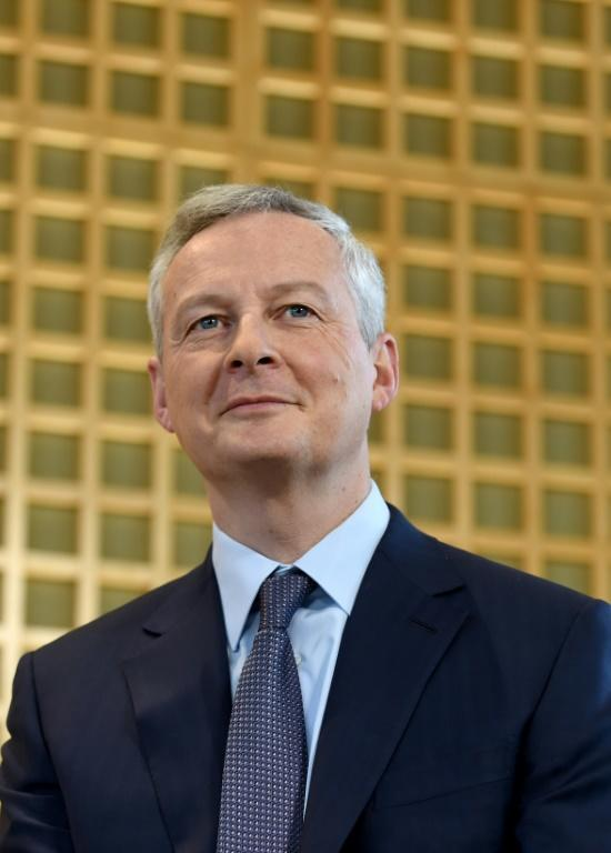 Le ministre de l'Economie Bruno Le Maire, le 14 janvier 2019 à Paris [ERIC PIERMONT / AFP/Archives]