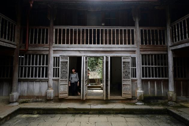 Un ancien palais Hmong que l'Etat vietnamien s'est approprié, le 26 octobre 2018 à Dong Van, dans le nord du pays  [Nhac NGUYEN / AFP]