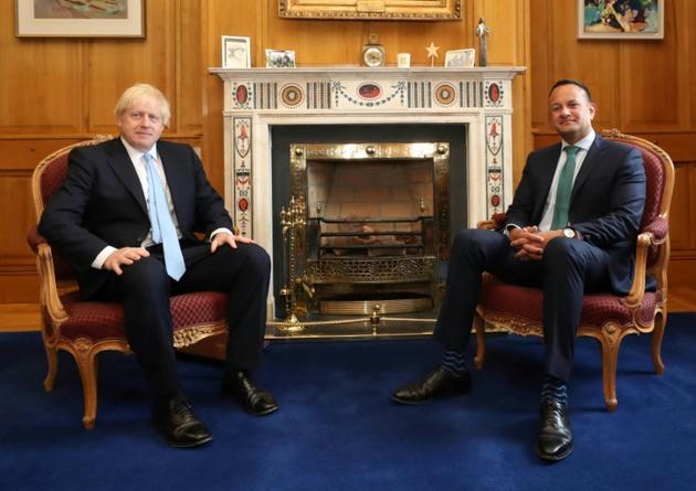 Les Premiers ministres irlandais Leo Varadkar et britannique Boris Johnson se rencontrent à Dublin le 9 septembre 2019 [Niall Carson / POOL/AFP]
