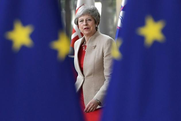 La Première ministre britannique Theresa May à Bruxelles le 28 mai mai 2019 [EMMANUEL DUNAND / AFP]