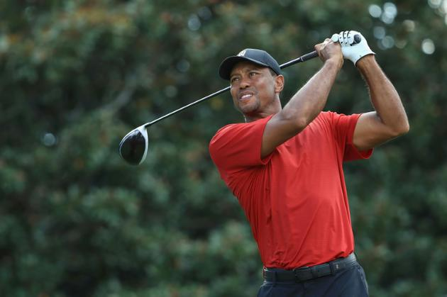L'Américain Tiger Woods, lors du dernier tour du Tour Championship, au East Lake Golf Club d'Atlanta, en Géorgie, le 23 septembre 2018 [SAM GREENWOOD / GETTY IMAGES NORTH AMERICA/AFP]
