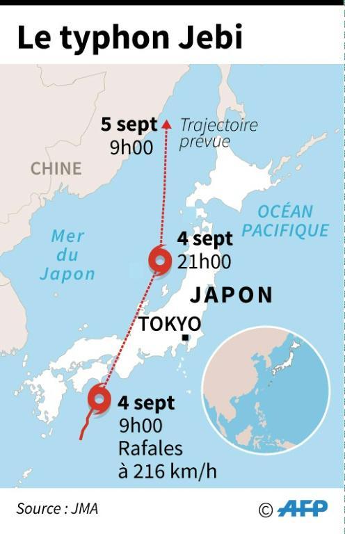 Le typhon Jebi [Laurence CHU / AFP]