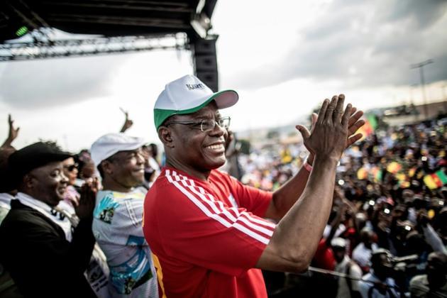 Le principal opposant camerounais, Maurice Kamto, le 30 septembre 2018 lors d'un rassemblement à Yaoundé. [MARCO LONGARI / AFP/Archives]