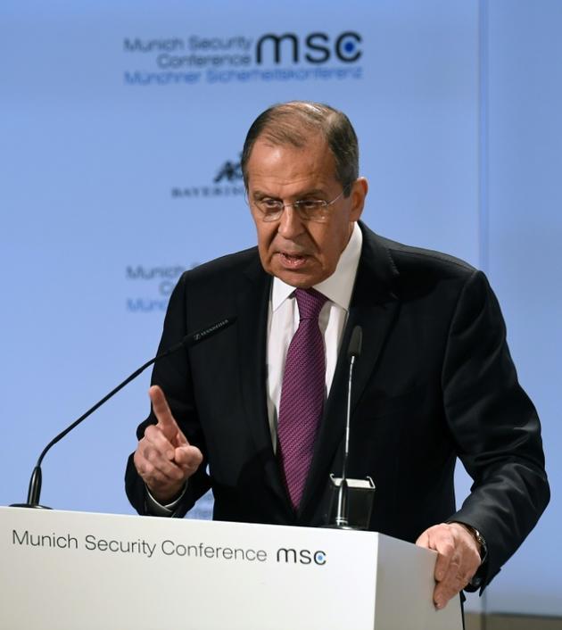 Le chef de la diplomatie russe Sergueï Lavrov à Munich le 16 février 2019 [Christof STACHE / AFP]