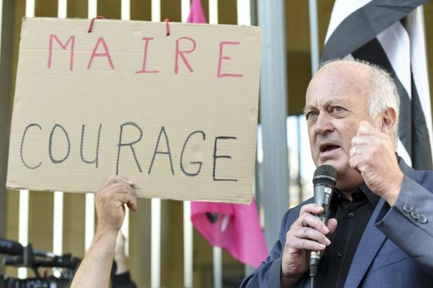 Daniel Cueff, maire de Langouet, le 22 août 2019 à Rennes [Sebastien SALOM-GOMIS / AFP/Archives]