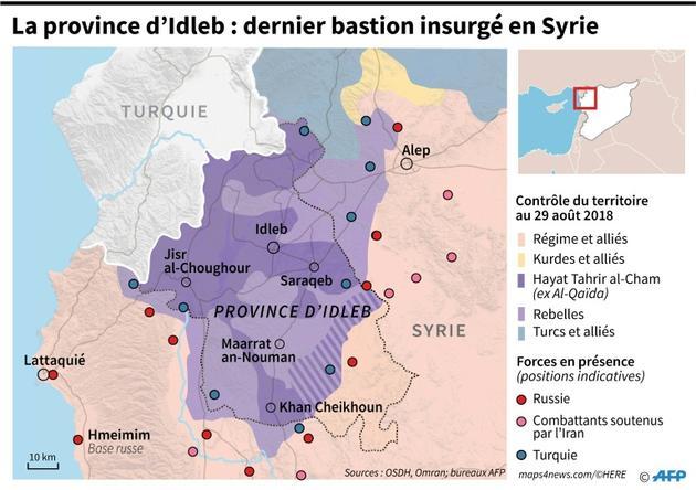 La province d'Idleb : dernier bastion insurgé en Syrie [Thomas SAINT-CRICQ / AFP]