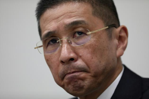 Le PDG de Nissan Hiroto Saikawa lors d'une conférence de presse à Tokyo, le 19 novembre 2018 [Behrouz MEHRI / AFP/Archives]