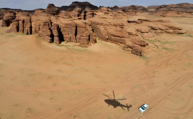 Cette photo prise le 11 février 2019 montre les rochers colorés du désert de Ula, dans le nord-ouest de l'Arabie saoudite. [FAYEZ NURELDINE / AFP/Archives]