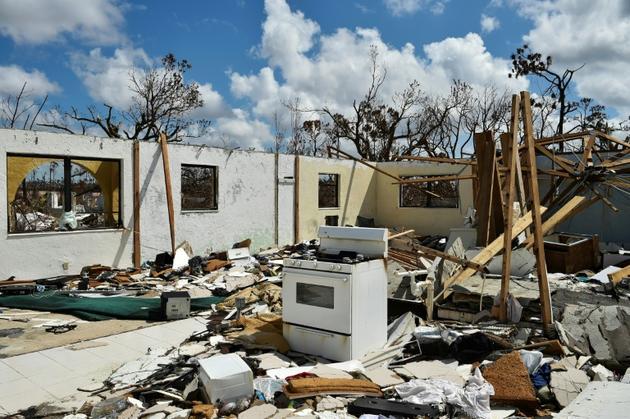 Une maison détruite par l'ouragan Dorian à Freeport, sur l'île de Grand Bahama (nord-ouest des Bahamas), le 10 septembre 2019<br />  [Leila MACOR / AFP/Archives]