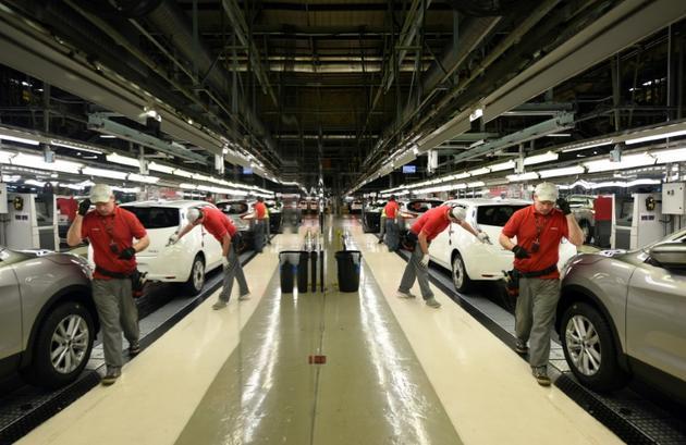 L'usine Nissan de Sunderland, en Grande-Bretagne, le 12 novembre 2014 [OLI SCARFF / AFP/Archives]