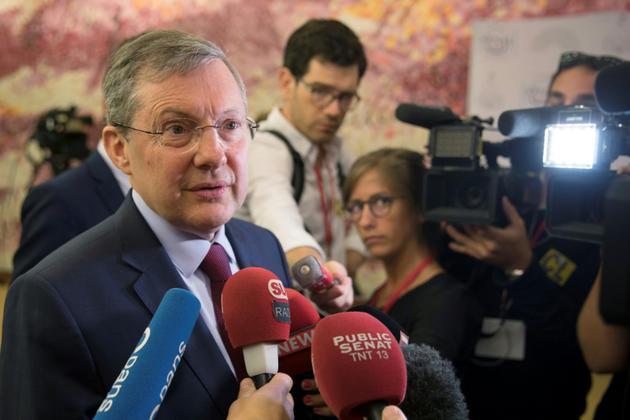 Le président de la commission des lois du Sénat Philippe Bas, le 31 juillet 2018 à Paris [Thomas SAMSON / AFP/Archives]
