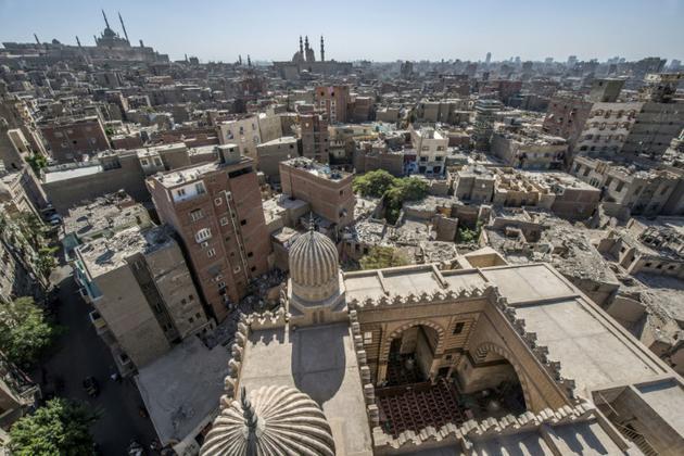 L'une des mosquées du quartier islamique et historique du Caire, le 28 octobre 2018 [Khaled DESOUKI / AFP]