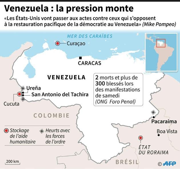 Venezuela : la pression monte [Nicolas RAMALLO / AFP]