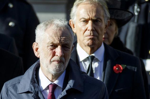 Jeremy Corbyn, leader du Labour, le principal parti d'opposition, à Londres, le 11 novembre 2018 [Tolga AKMEN / AFP/Archives]