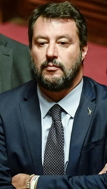 Le chef de la Ligue (extrême droite) Matteo Salvini, ex-ministre de l'Intérieur italien, le 10 septembre 2019 à Rome [Filippo MONTEFORTE / AFP/Archives]