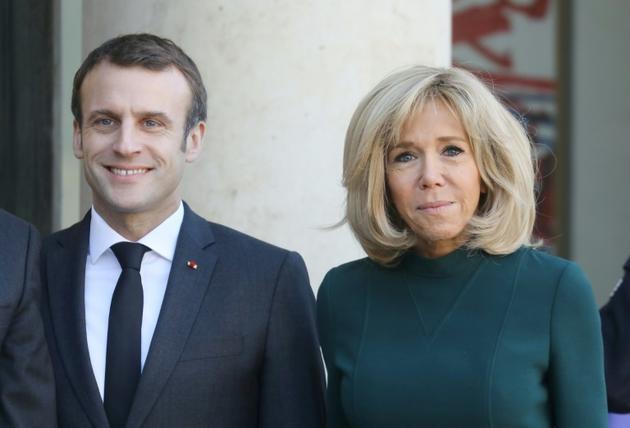 Le président Emmanuel Macron et son épouse  Brigitte, à Paris, le 21 janvier 2019 [LUDOVIC MARIN / AFP/Archives]