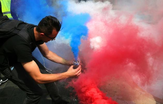Un gilet jaune samedi 18 mai 2019 à Reims [FRANCOIS NASCIMBENI / AFP]