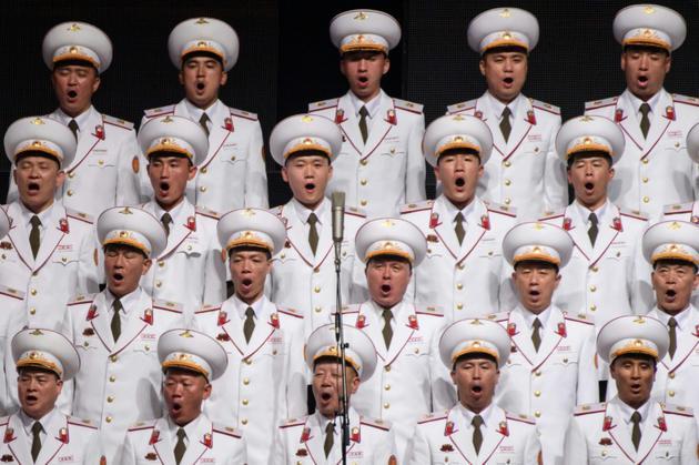 Concert donné à Pyongyang le 8 septembre 2018, à la veille du 70e anniversaire de la Corée du Nord<br />  [Ed JONES / AFP]